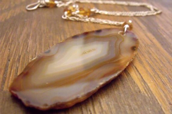 Raw Edged Agate Jewelry