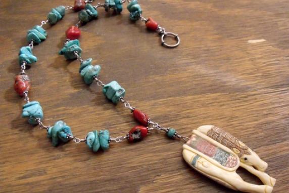 Southwestern Horse Necklace